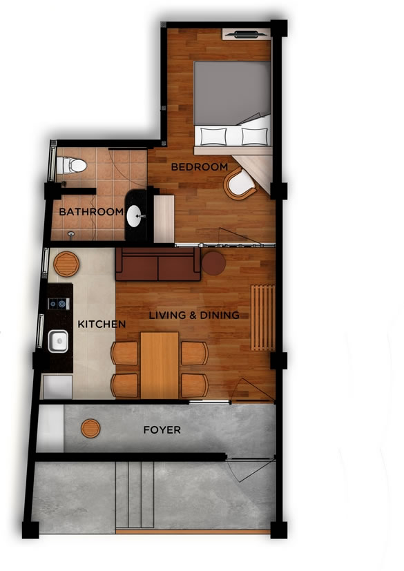 East 04 - Jimbaran Apartments - Alur Natura Apartments Bali - Floorplan