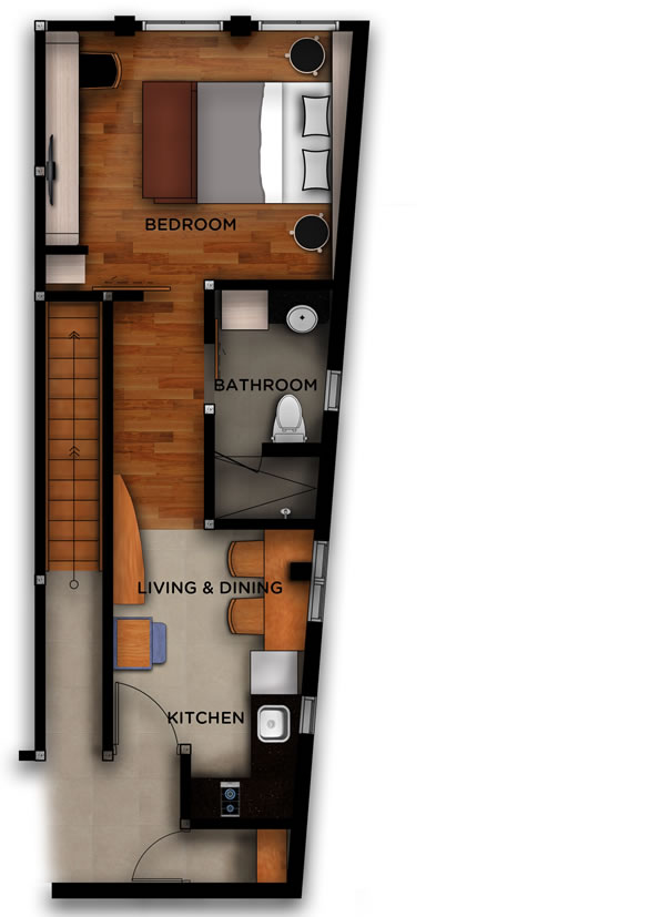 West 05 - Jimbaran Apartments - Alur Natura Apartments Bali - Floorplan